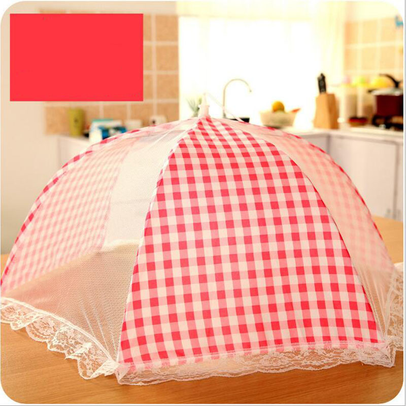 26F4-Grid-Style-Lace-Kitchen-Food-Dish-Cover-Umbrella-Folded-Hygiene-Health