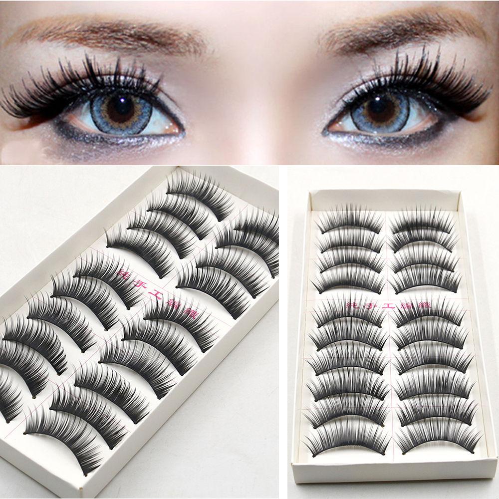 4698-10-Pairs-Fake-Eye-Lashes-3D-Natural-Long-Thick-Eyelash-Makeup-Extension