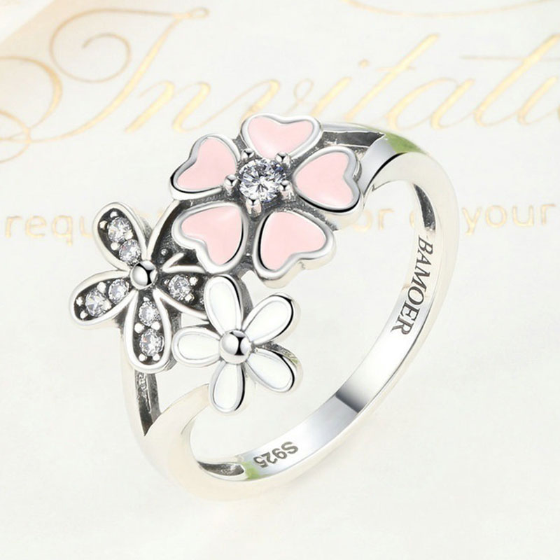 71C6-Pure-Silver-Ring-S925-Embed-Diamond-Enhanced-Pink-Flower-Fashion-Ornaments