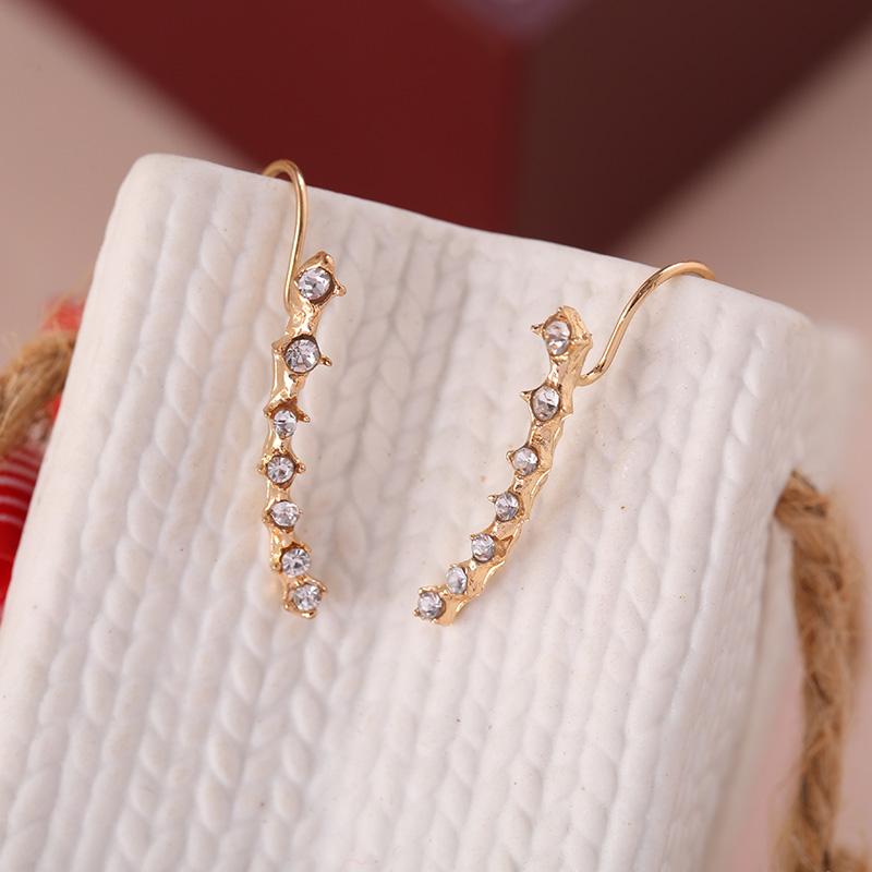 DE96-Women-Fashion-Earring-Rhinestone-Silver-Crystal-Earrings-Ear-Hook-Stud