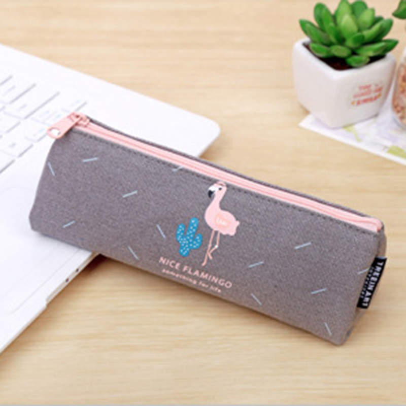 B93B-Flamingo-Students-Canvas-Pencil-Pen-Bag-Zipper-Makeup-Pouch-Stationery