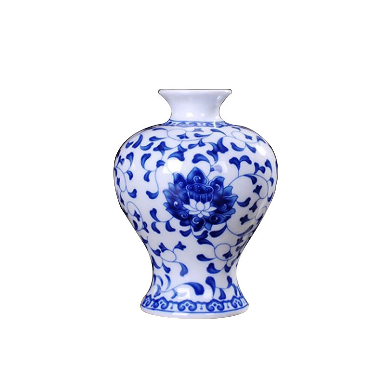 BFF3-Traditional-Chinese-Blue-And-White-Porcelain-Vase-Flower-Vase-A-Pattern