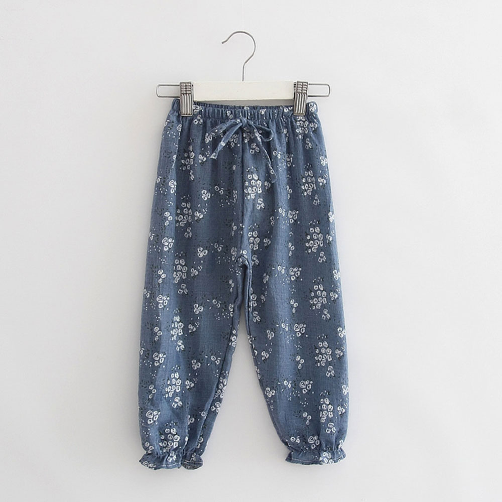 9187-Casual-Baby-Children-Girls-039-Pants-Floral-Trousers-Bloomers-Cotton-Linen