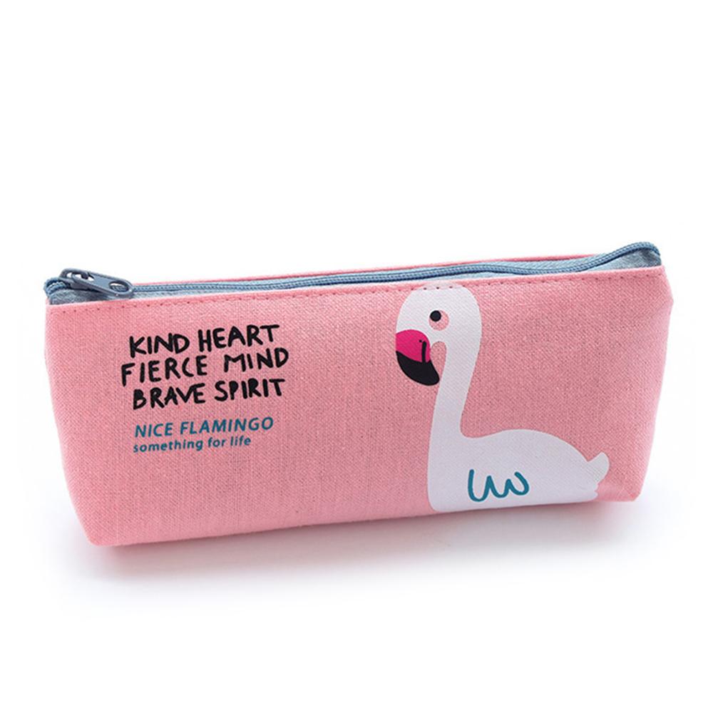293E-Flamingo-Pencil-Pen-Bag-Case-Zipper-Makeup-Coin-Pouch-Student-Stationery