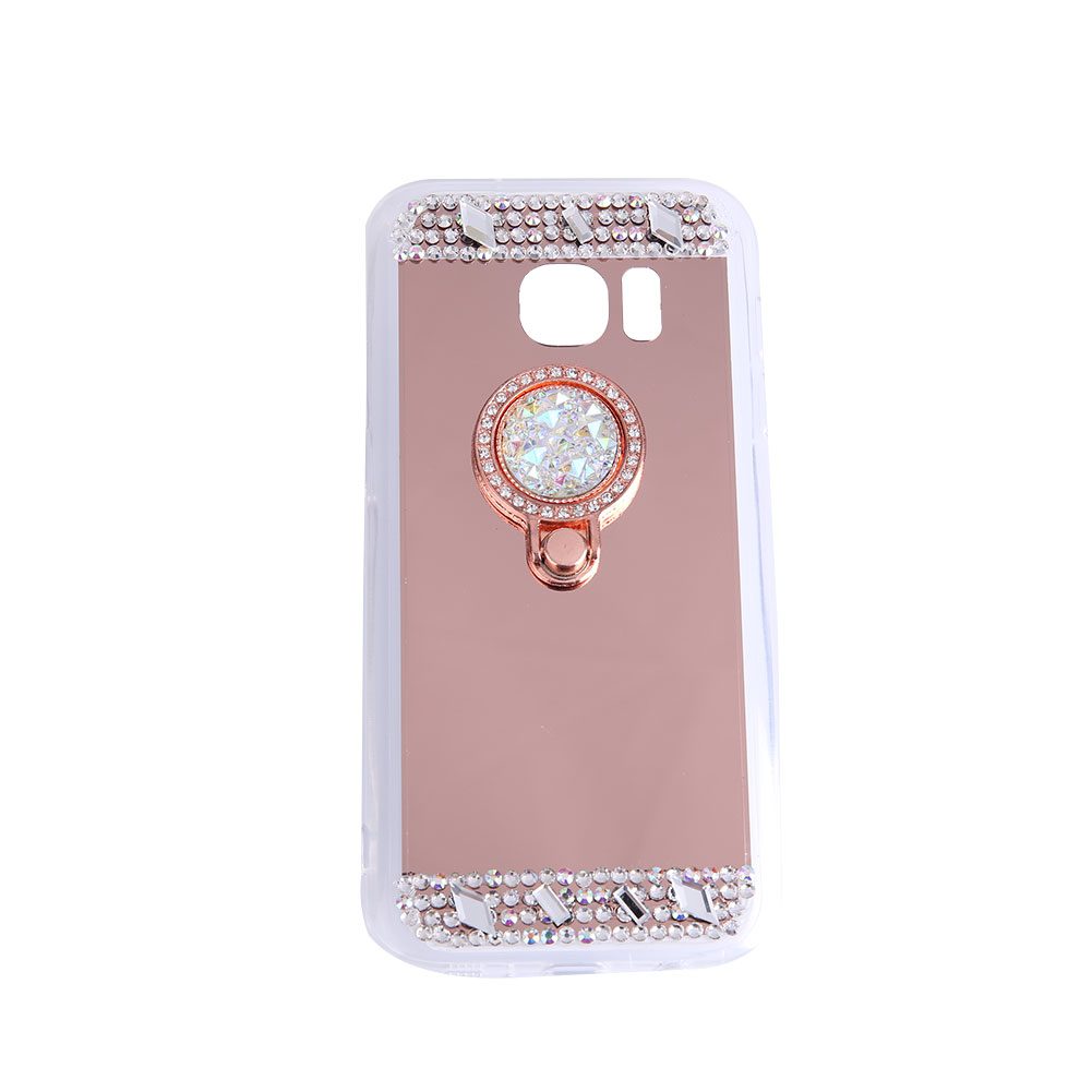 5C1E-Mobile-Phone-Plating-Mirror-Case-Crystal-Ring-For-Samsung-Galaxy-S6-Edge