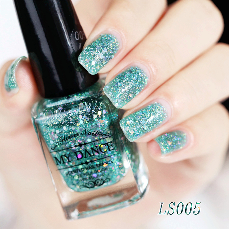5419-Shiny-Flashing-Sequin-Nail-Polish-DIY-Nail-Art-Salon-Ornament-16-Colors