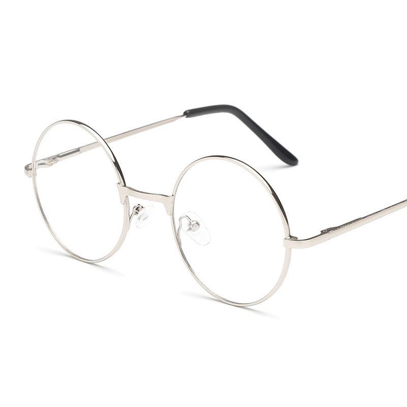 27DA-Women-Large-Oversized-Metal-Frame-Round-Eye-Glasses-Nerd-Fashion-Eyewear
