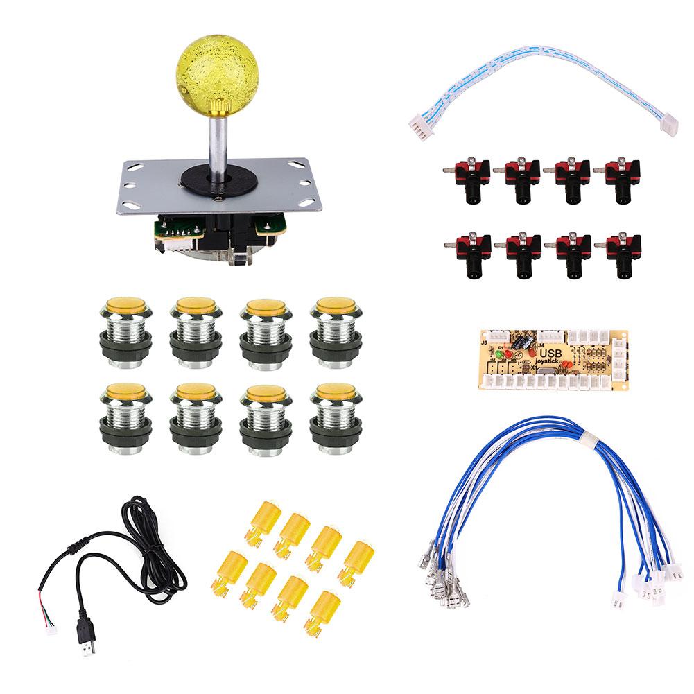 E702-2-Player-For-Arcade-Game-DIY-USB-Controller-Joystick-LED-Push-Button-Set