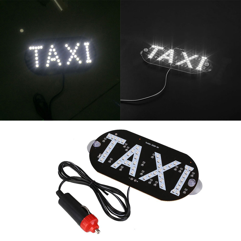 0347-Taxi-Car-Vehicle-Interior-Windscreen-LED-Indicator-Light-Cab-Sign-Lamp-2W