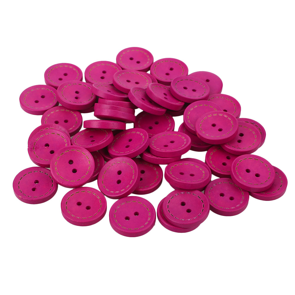 8696-50Pcs-Pack-Vintage-Round-Wooden-Button-Sewing-Clothing-Buckle-Supplies