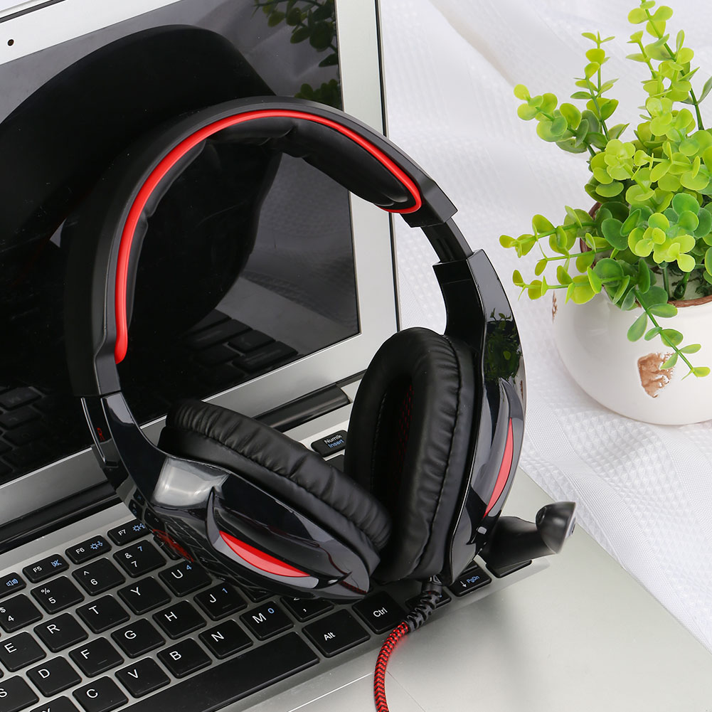 E943479 USB Wired 7.1 Surround Sound Effect Pro Gaming Headset for Sades Sa902