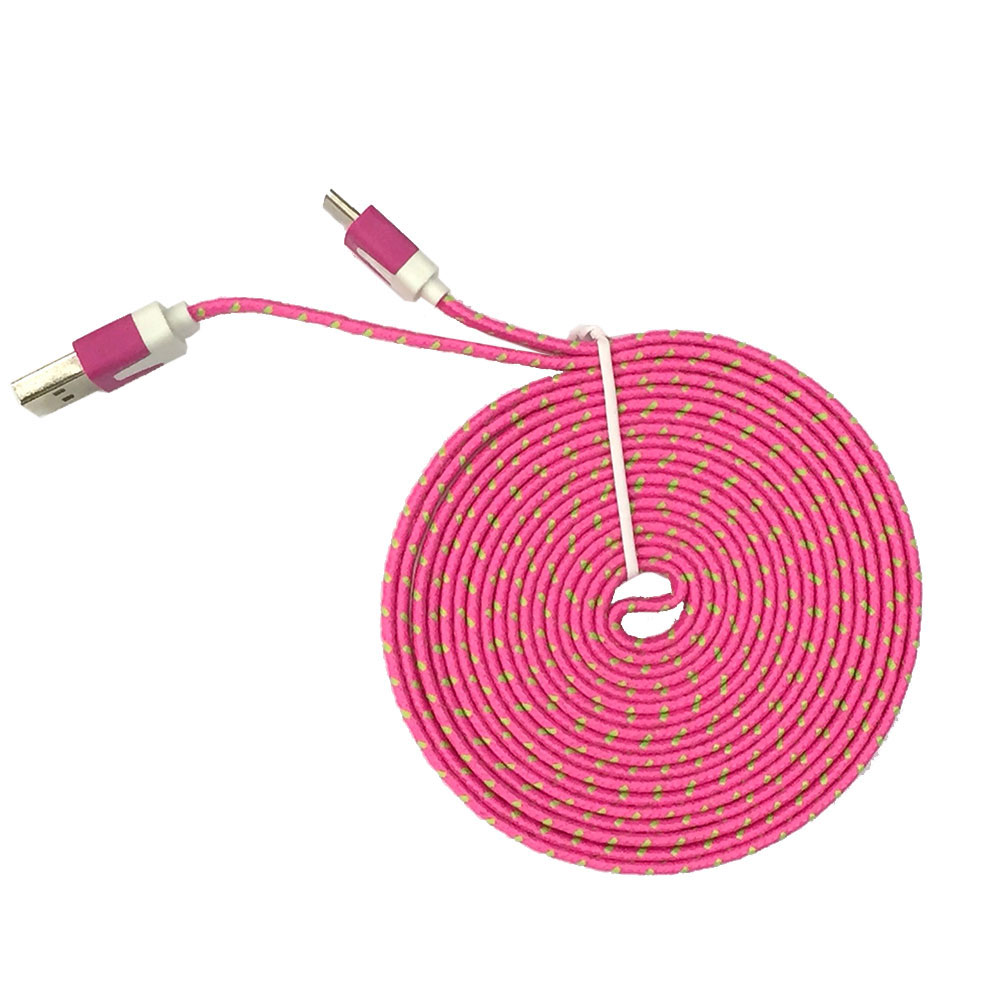 806C-2M-Flat-Nylon-Braided-Type-C-USB-Charging-Data-Cable-For-Samsung-Galaxy-S8