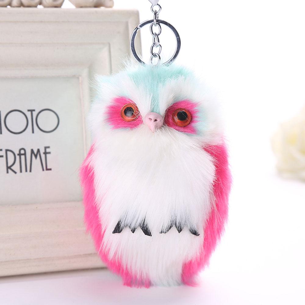 DA05-Cute-Animal-Plush-Owl-Pendant-Keychain-Key-Ring-Key-Chain-Bag-Accessorie
