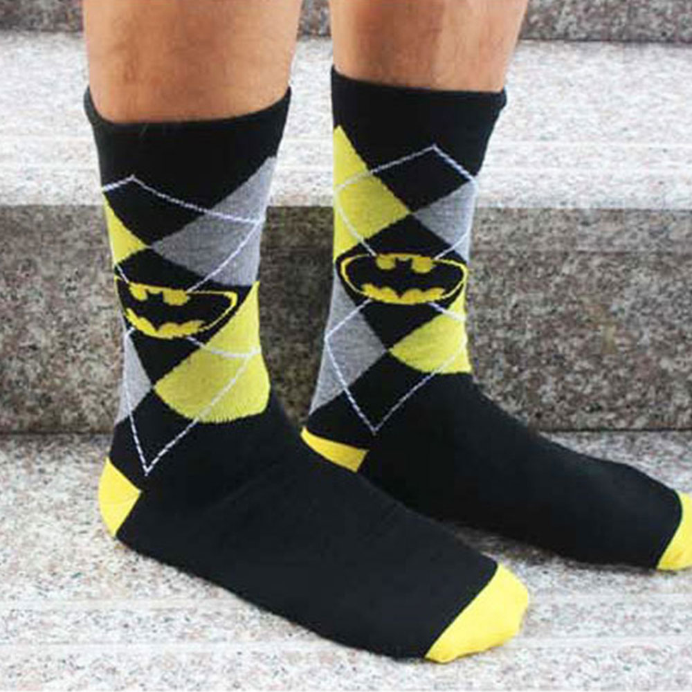36D8-2017-Unisex-Batman-Cotton-Socks-Multi-Color-Dress-Women-039-s-Casual-Socks