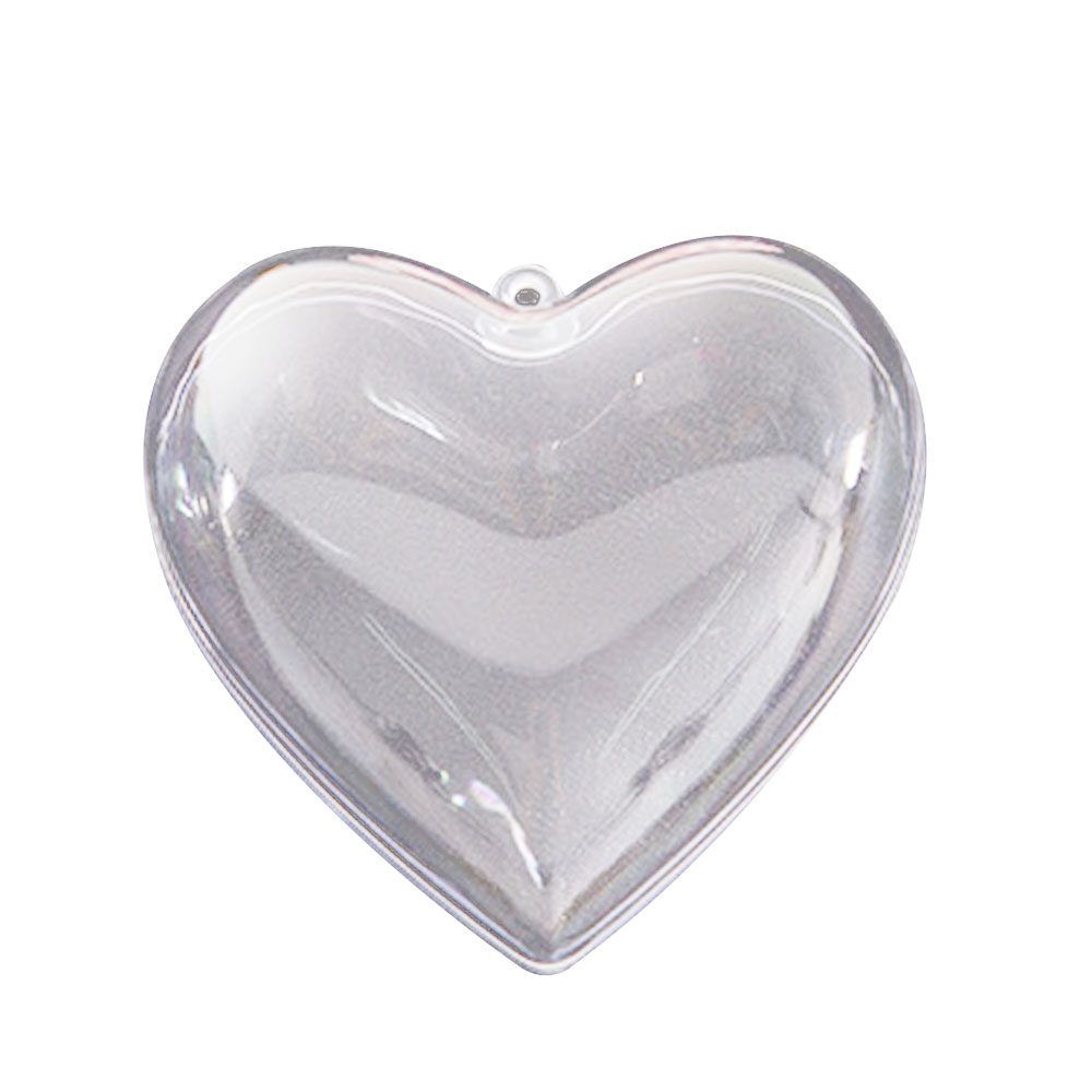 743D-Hollow-Plastic-Round-Ball-Christmas-Clear-Decoration-Heart-Shape-Ornament