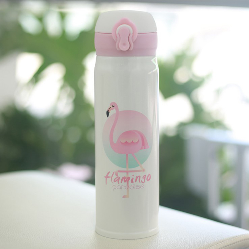 3DCC-Stainless-Steel-Flamingo-Insulation-Thermos-Vacuum-Cup-Mug-Kids-Bottle