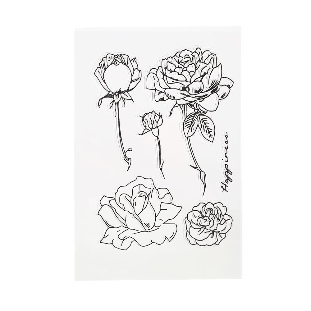 2EBC-Silicone-Sesl-Clear-Cute-Fantasy-Garden-Rose-Craft-Gadget-Prop