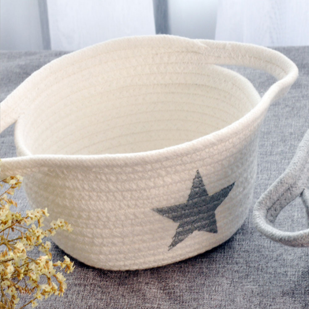 C894-Laundry-Basket-Cotton-Thread-Bags-Durable-Handmade-Household-Space-Saving