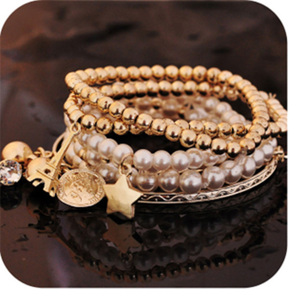 9588-Lady-Gifts-Pendant-Bracelet-Hand-Chain-Elegant-Jewelry-Gold-Accessories