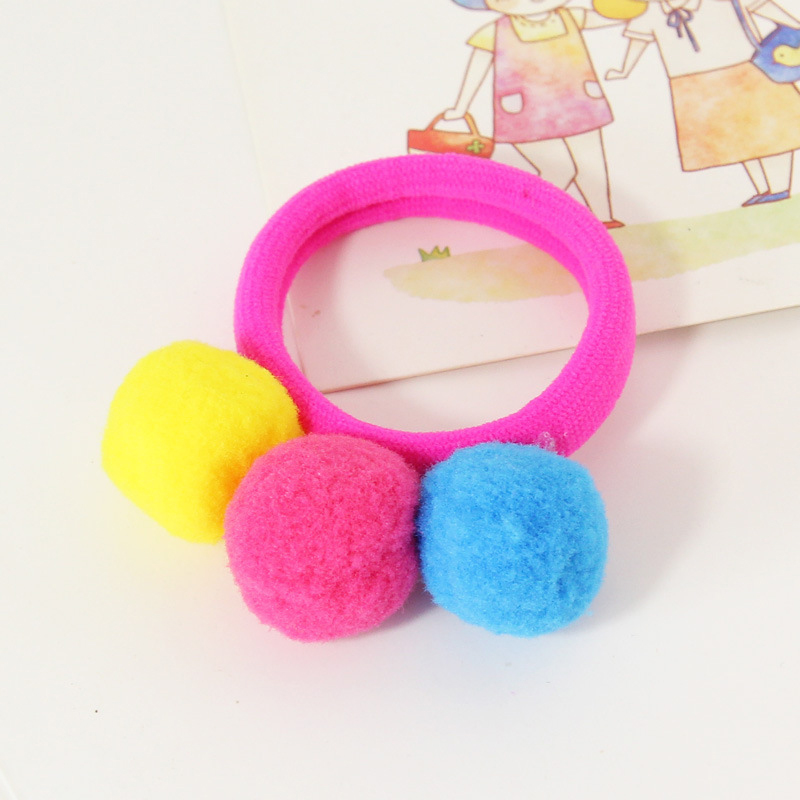 1CD6-Hair-Band-Cute-Beautiful-Elastic-Rubber-Band-Hairball-Hair-Accessory