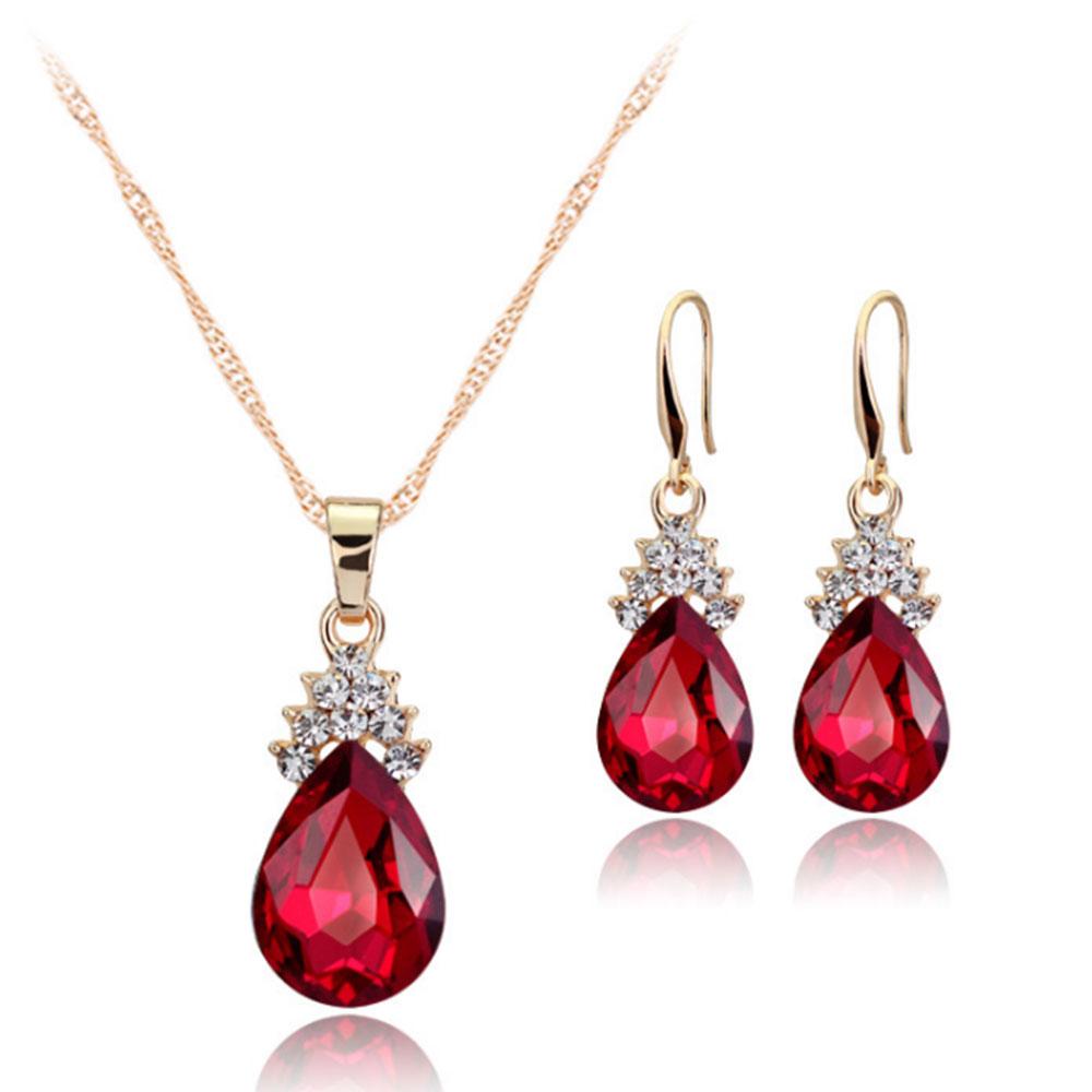 0EE4-Necklace-Pendant-Jewelry-Set-Crystal-Earrings-Elegant-Bridal-Present
