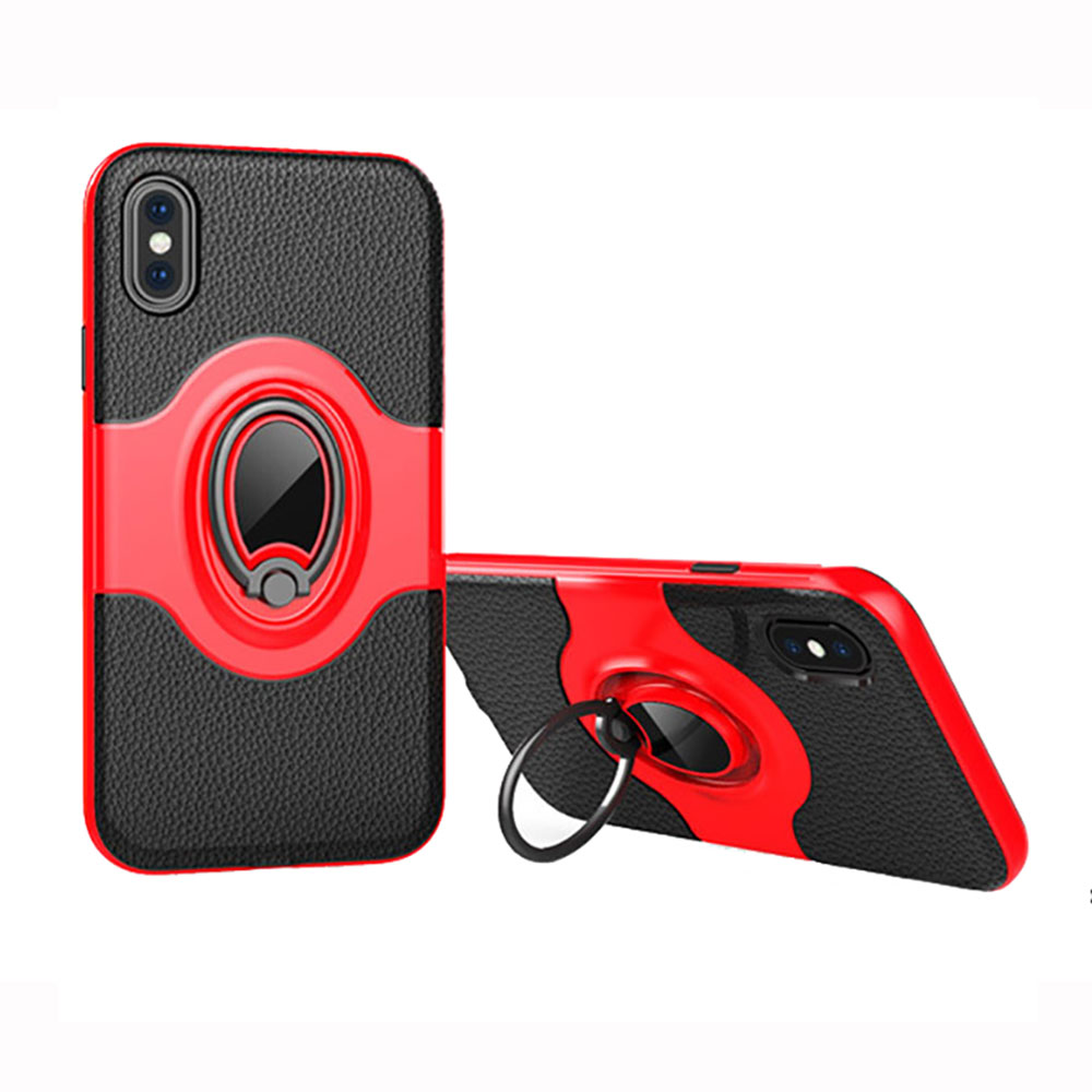 2538-For-iPhone-X-8-7-6-6S-Magnetic-Shockproof-Case-Cover-with-Ring-Car-Holder